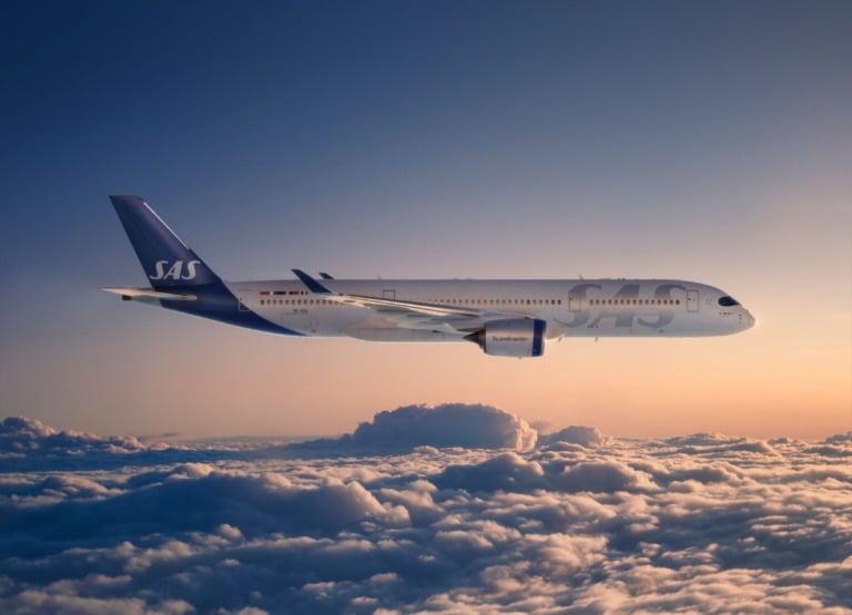SAS-fly på himmelen