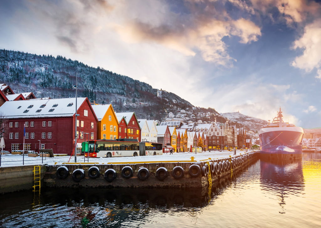 Bergen's Bryggen from the waterfront
