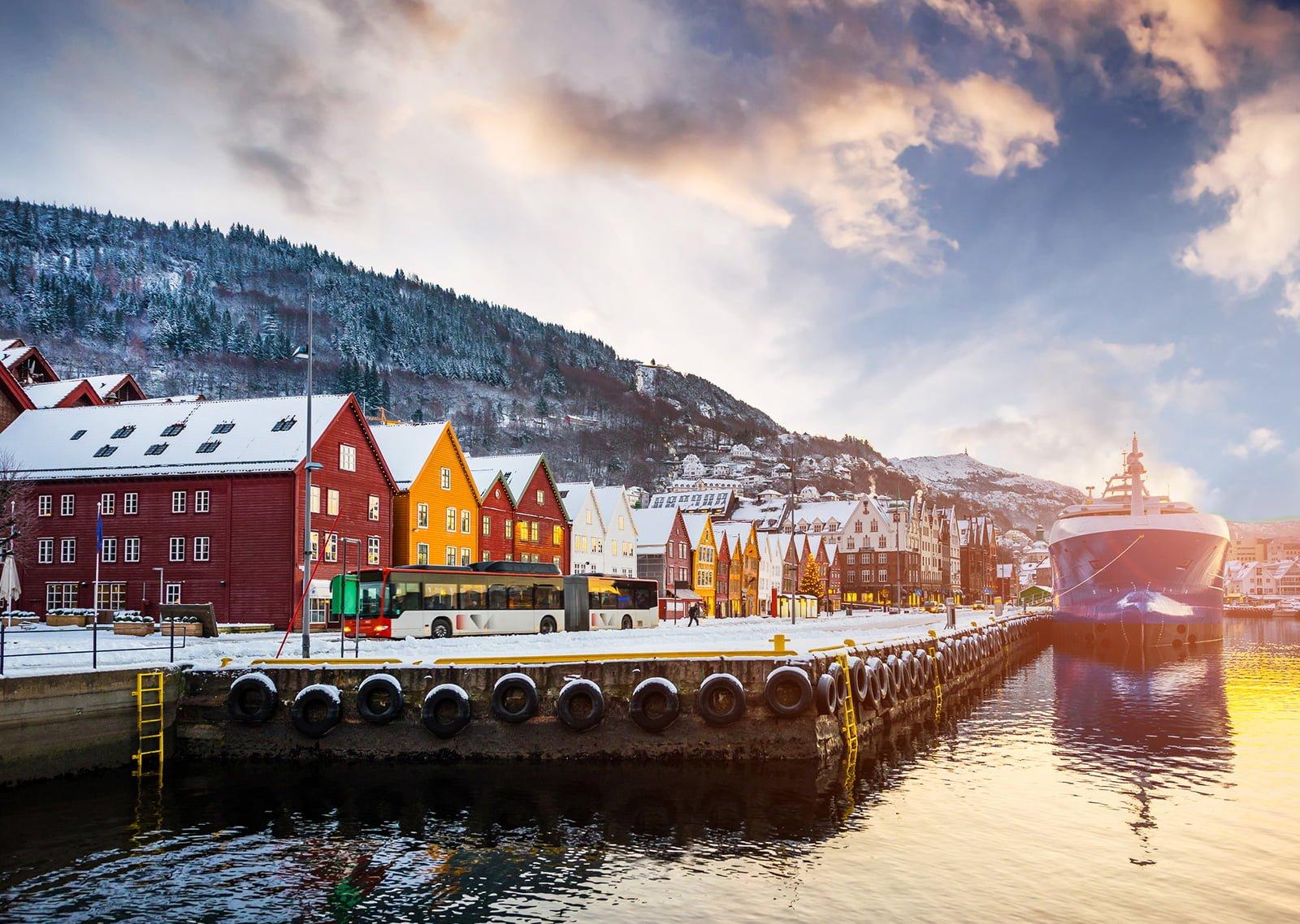 Bergen's Bryggen from the waterfront