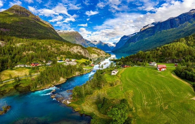 Scenery in Loen, Norway