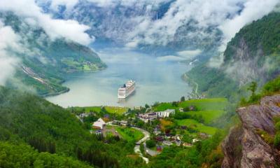The Norway tourism hotspot Geiranger