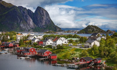 A Norwegian village in Northern Norway