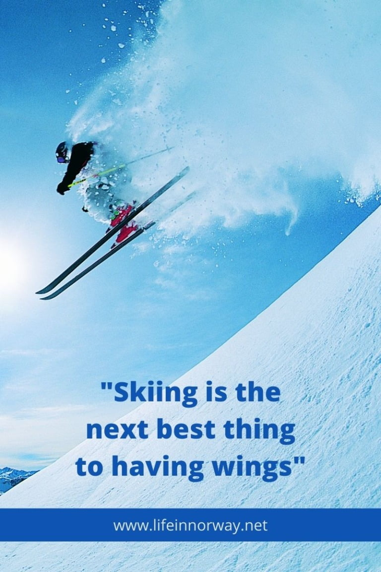 Skiing is the next best thing to having wings.