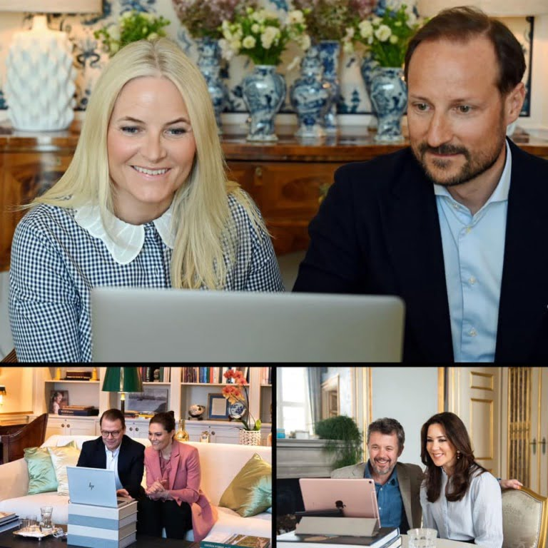 Scandinavian Royal Family Zoom call