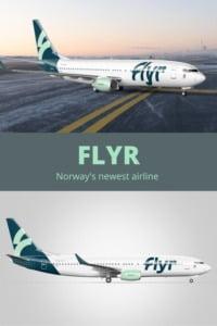Flyr Norway pin