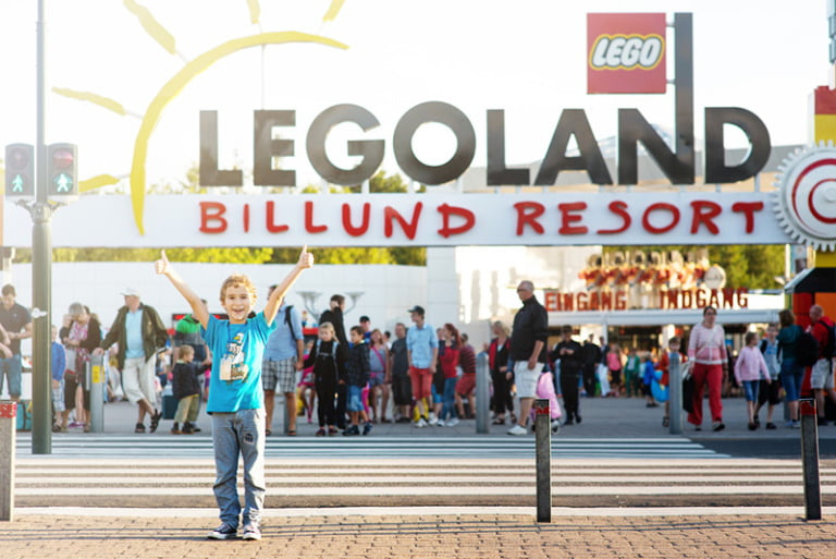 Danish boy at Legoland in Denmark