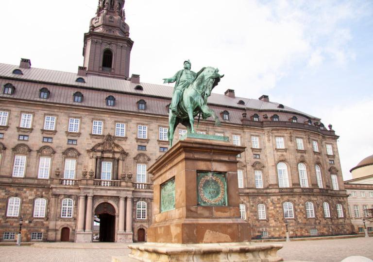 The Danish parliament building in Copenhagen, Denmark.