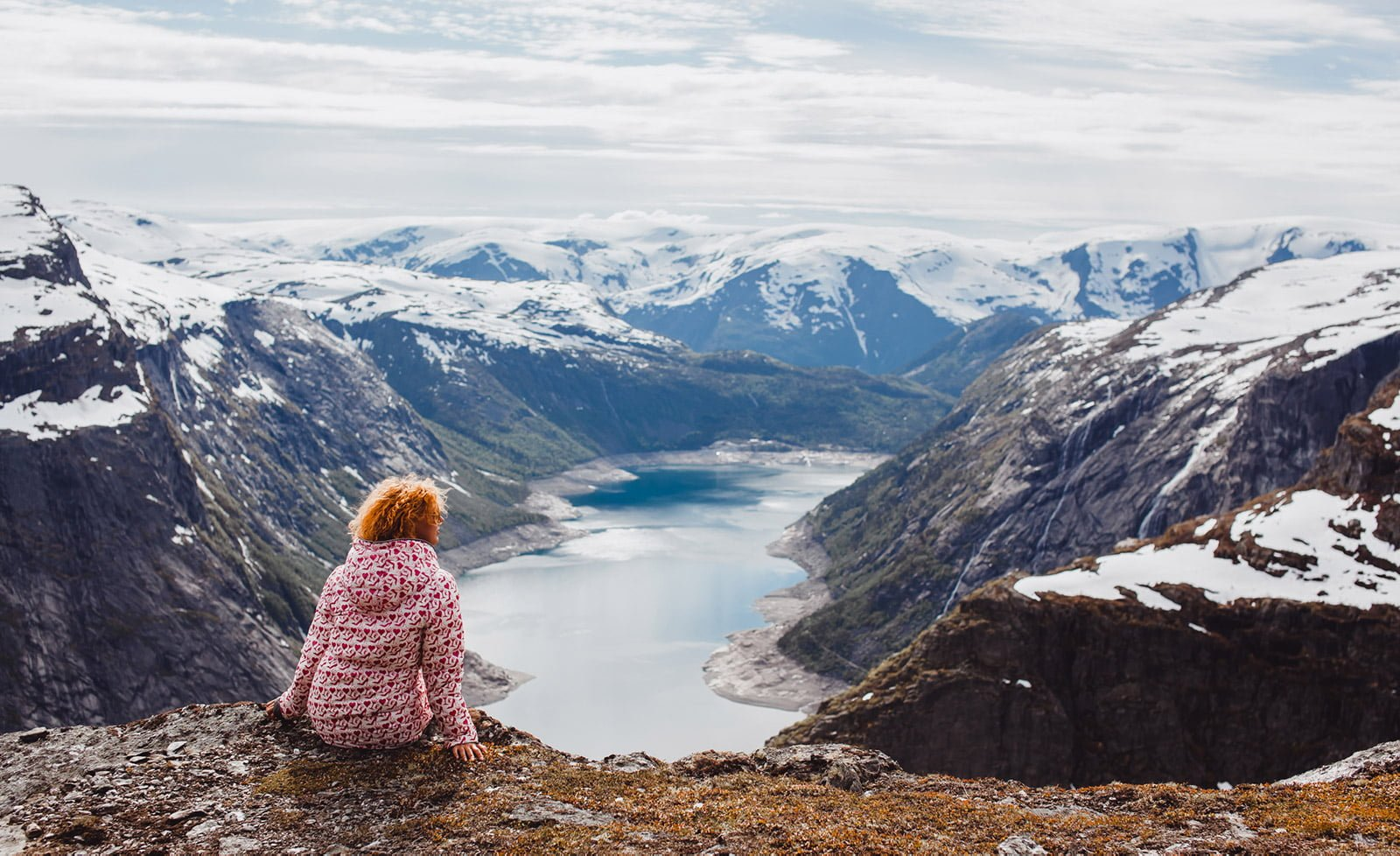 A lonely hiker in Norway