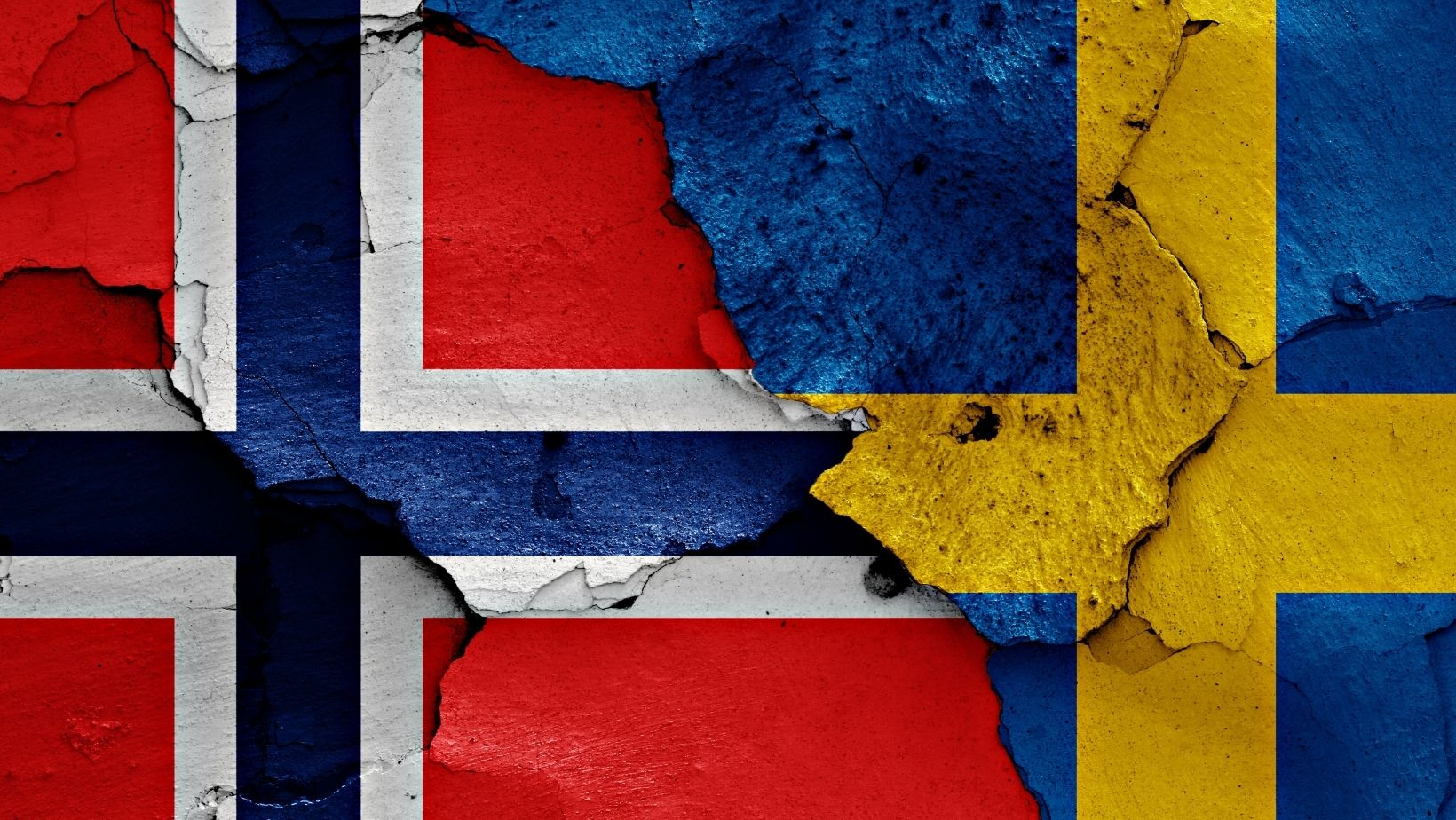 Illustration of Norway-Sweden union flags