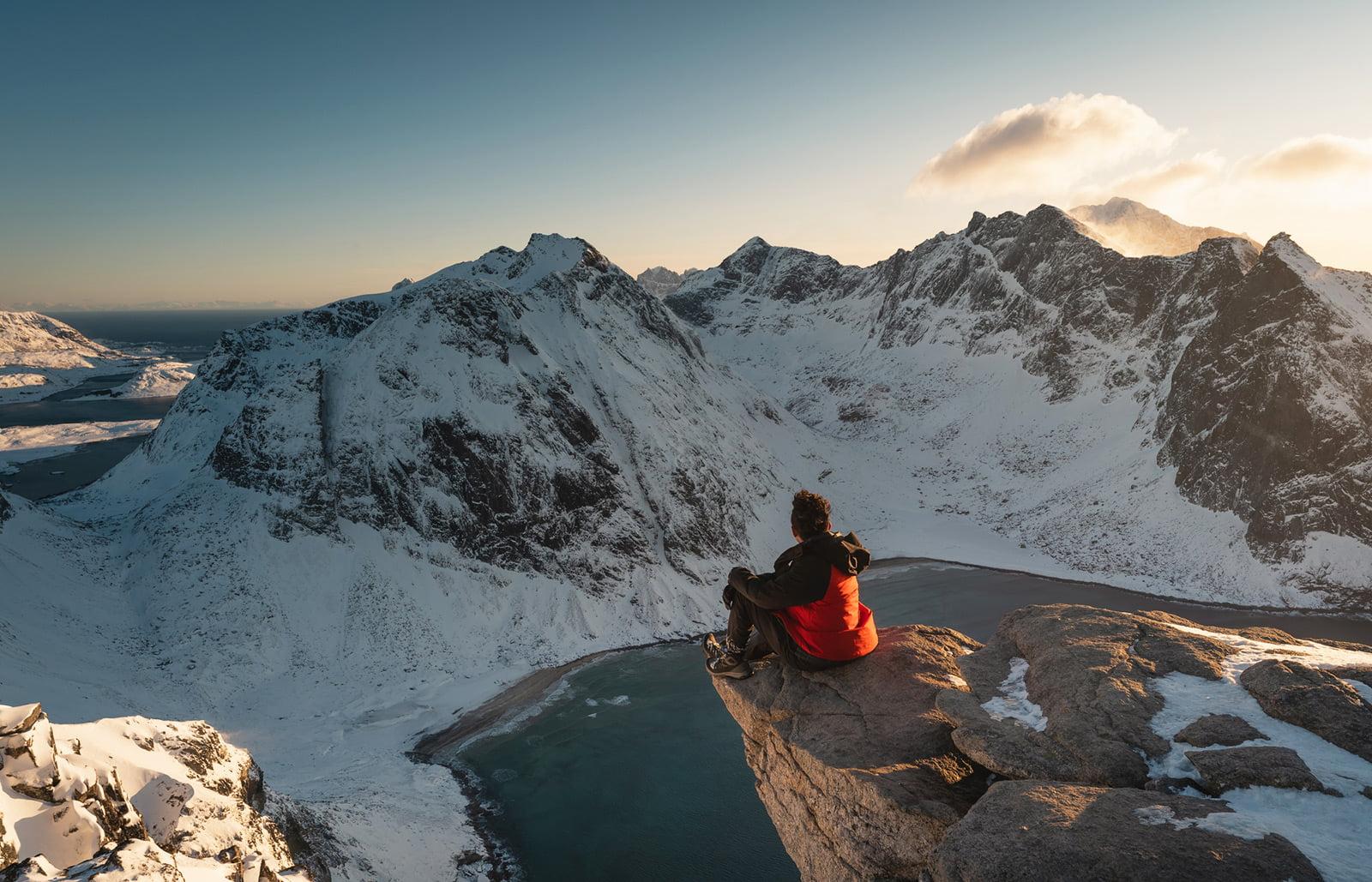 A Norwegian hiker in Northern Norway
