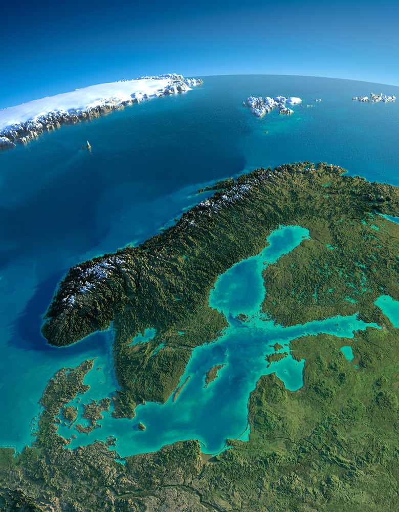 The Scandinavian peninsula is home to Norway and Sweden