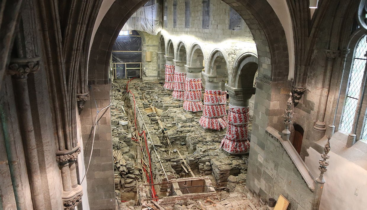 Archaeological finds in Stavanger cathedral, Norway