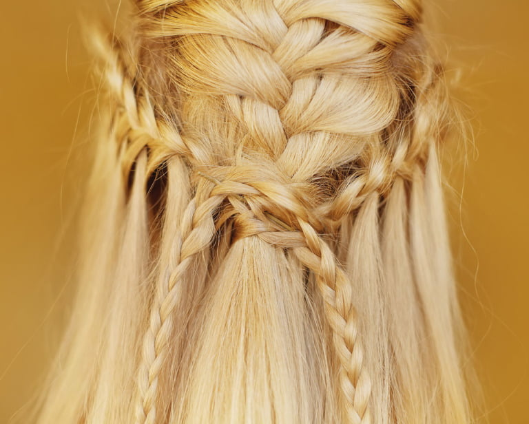 A Nordic wedding hairstyle