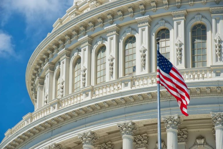 American flag in Washington DC