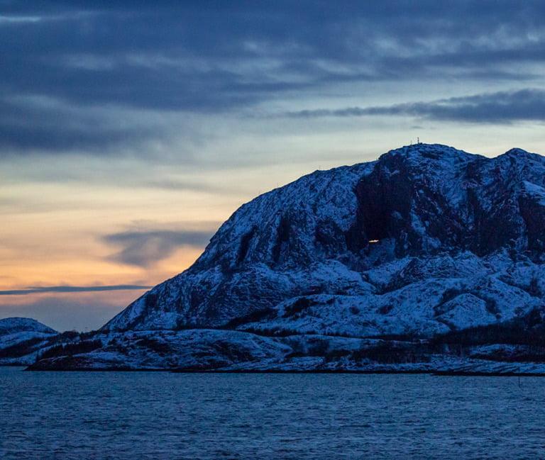 Torghatten outside Brønnøysund, Norway