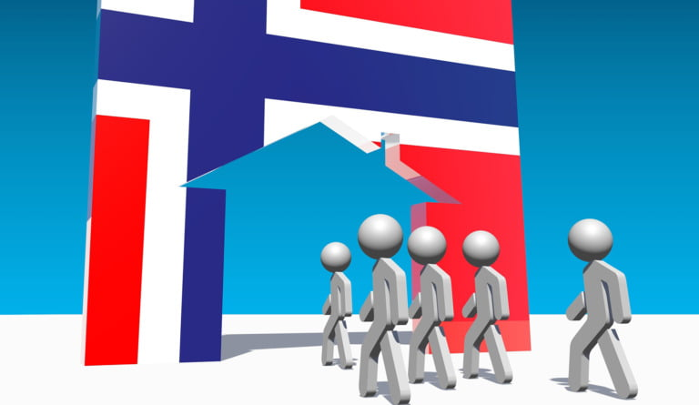 Immigration to Norway concept image