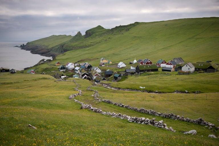 Mykines in the west of the Faroe Islands