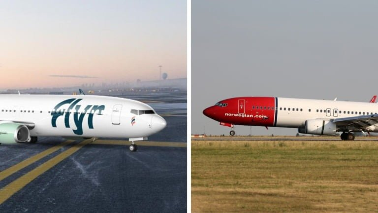 Norway airlines, Flyr and Norwegian Air.