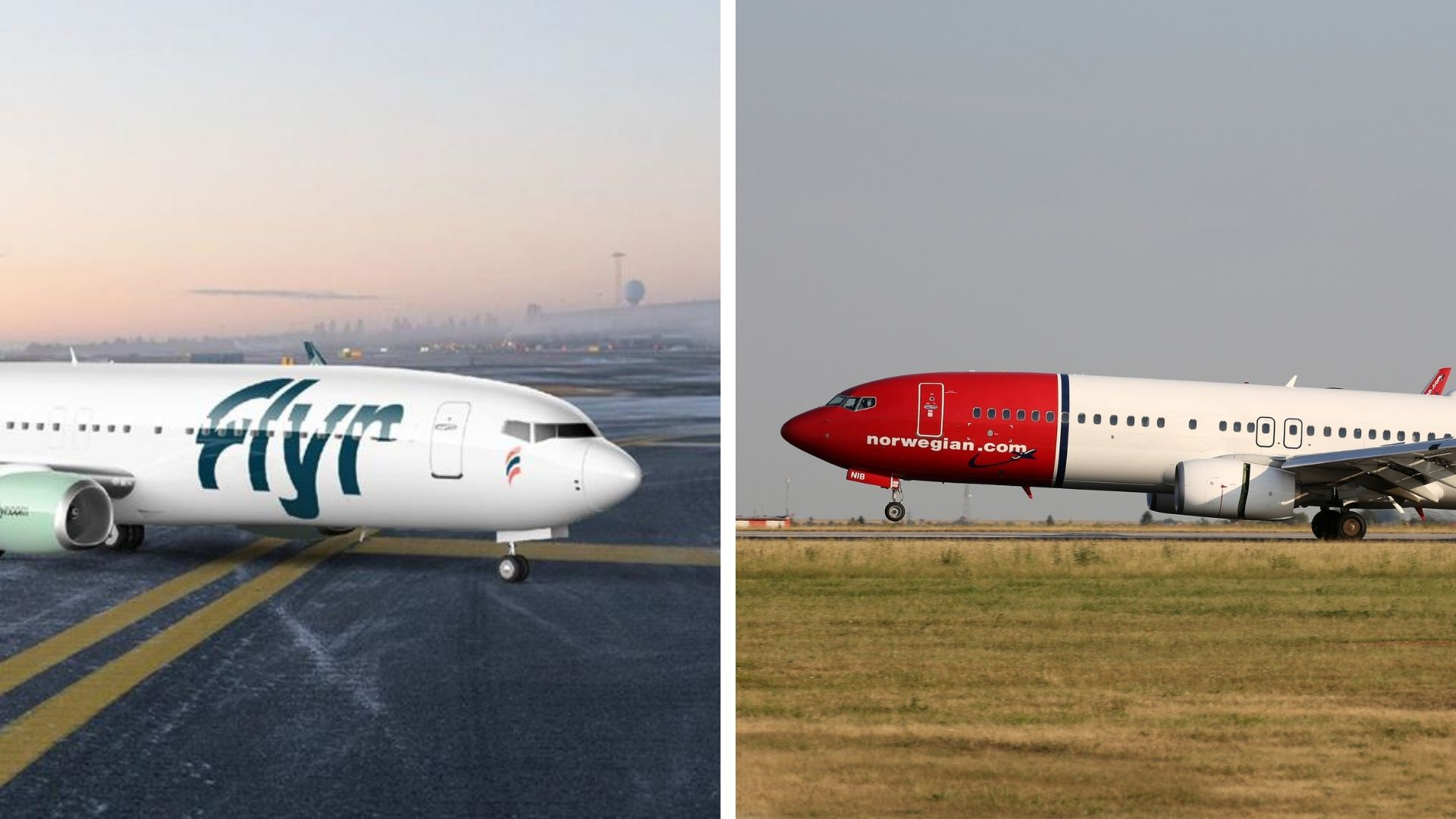 The Norway airlines, Flyr and Norwegian Air