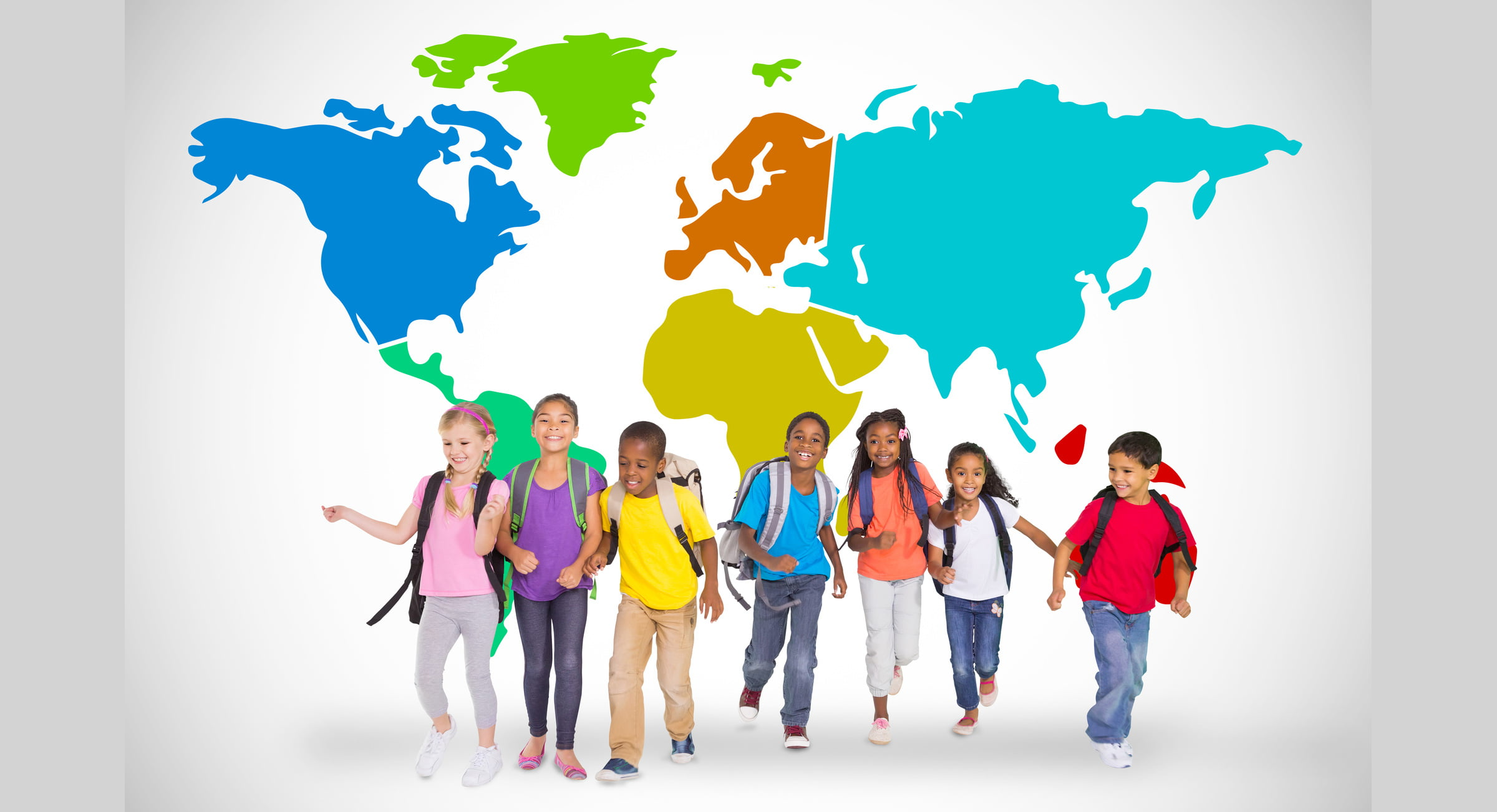 International school children in Norway