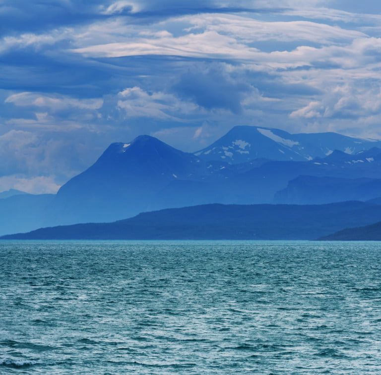 The Norwegian Sea and the coastline of Norway