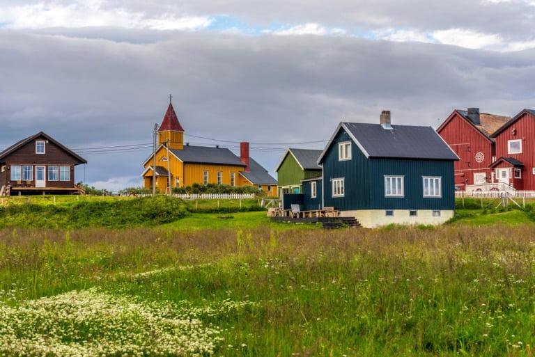 Skallev village in Vadsø, Norway