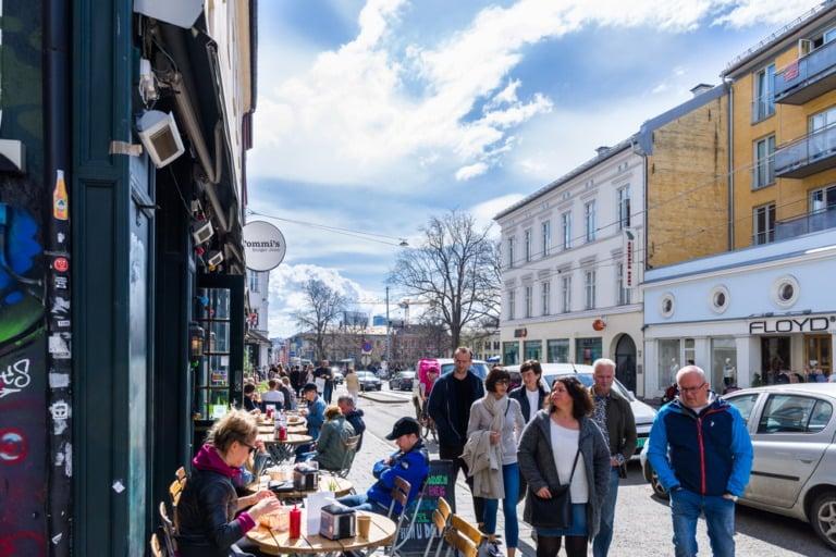 Street scene in Grünerløkka, Oslo