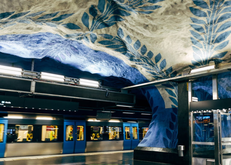 The Stockholm metro doubles as an art gallery