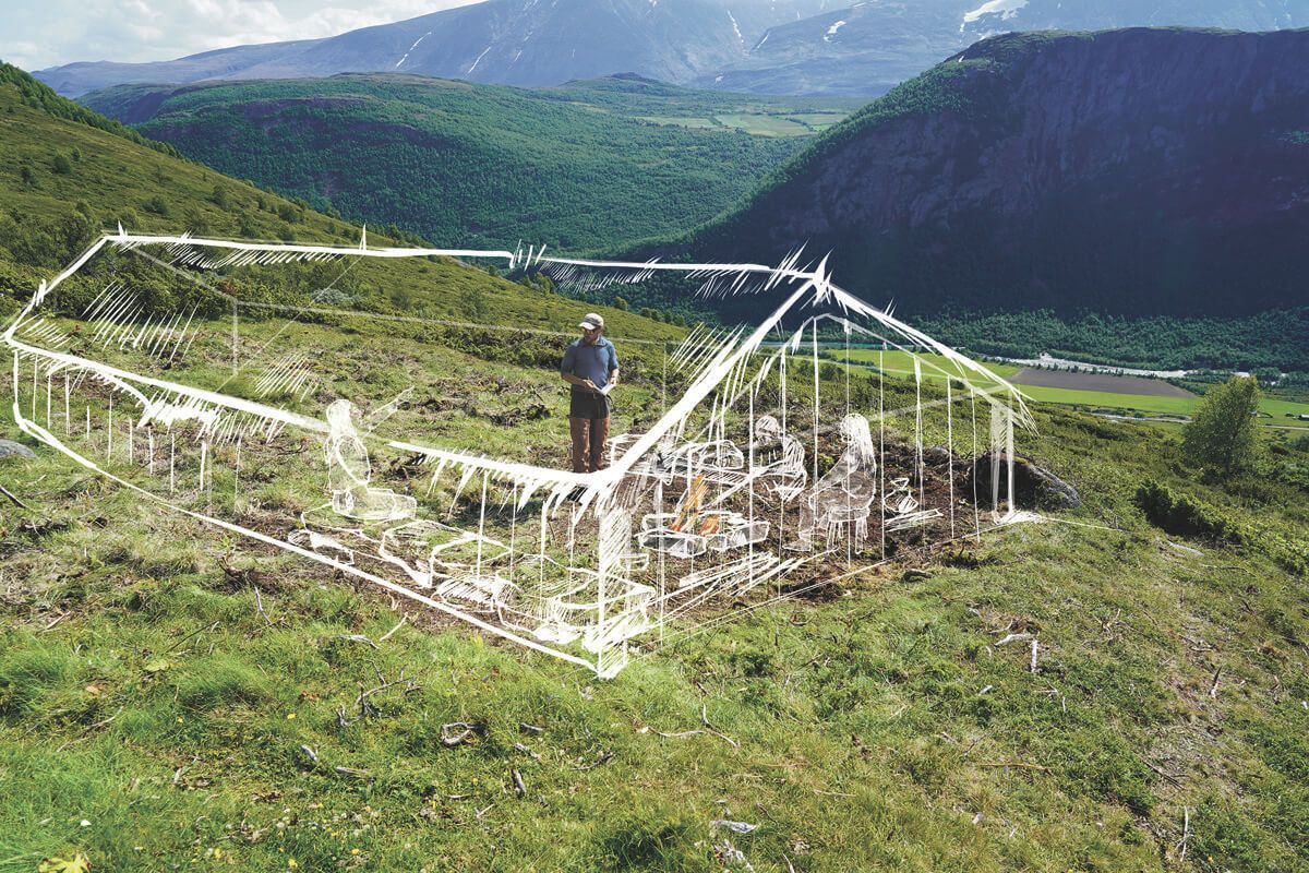 A tentative reconstruction of one of the dated Viking settlement