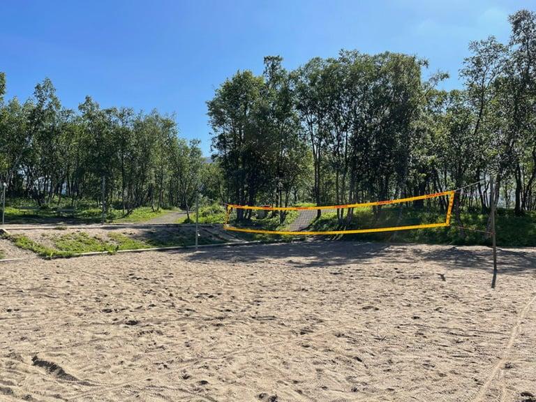 Beach volleyball court in Tromsø, Norway
