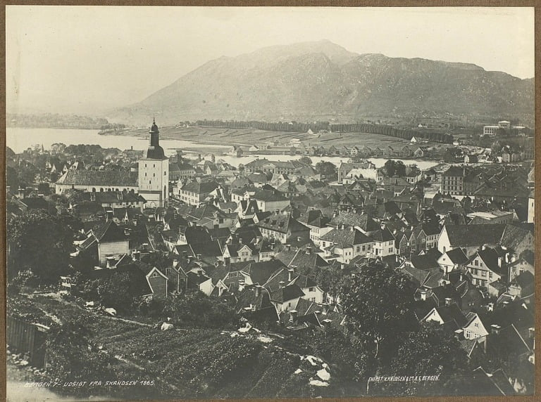 View of Bergen from Skansen. Taken in 1865.