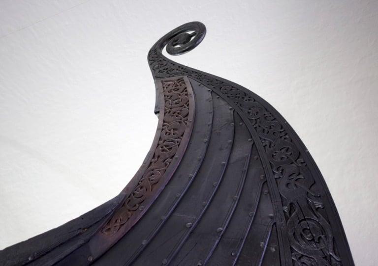 Gokstad Viking ship detail
