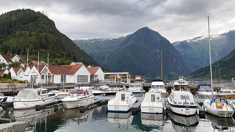 The harbour in Balestrand, Norway