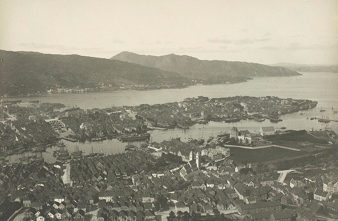 Hisotric archive photography from Bergen, Norway