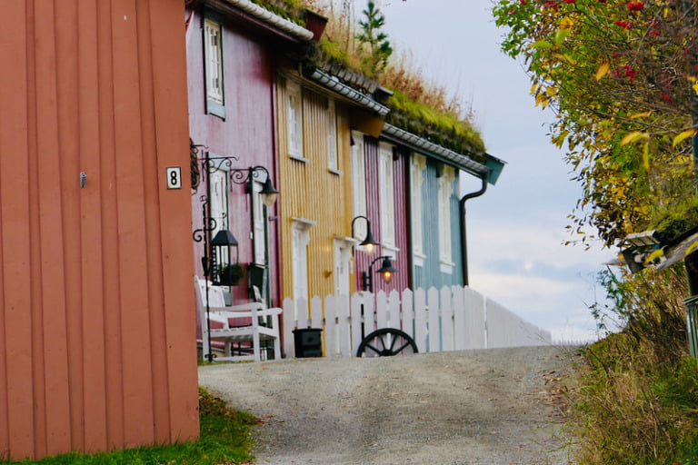 Old street in Mo i Rana, Northern Norway.