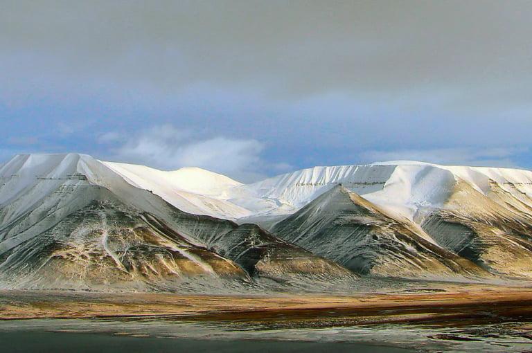 Operafjellet mountain on Svalbard