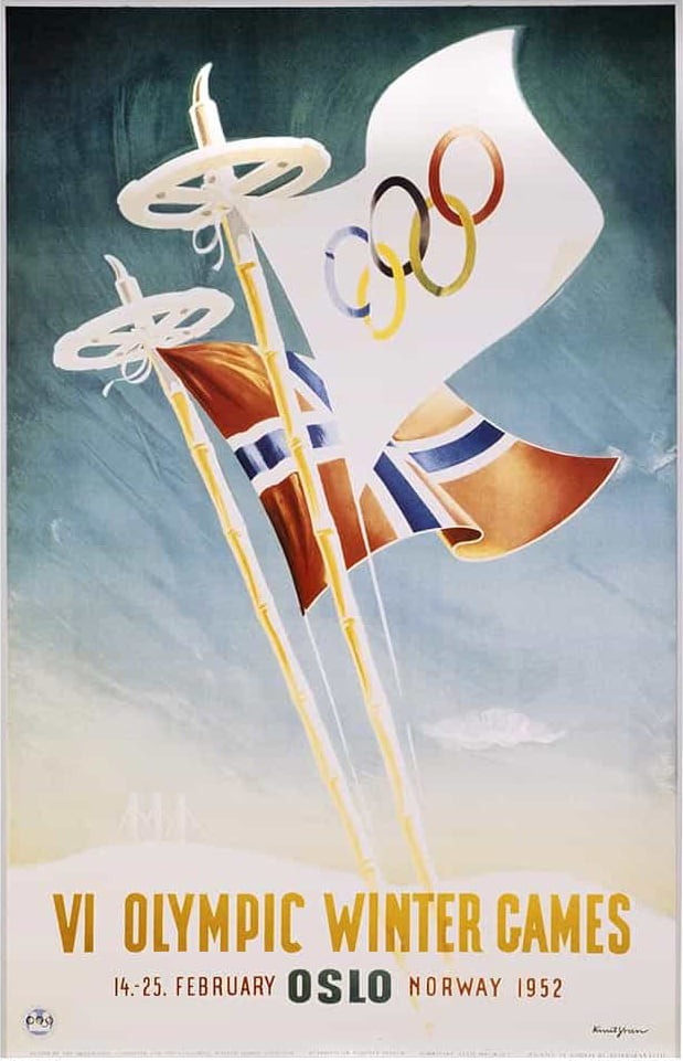 Oslo 1952 Winter Olympic Games poster