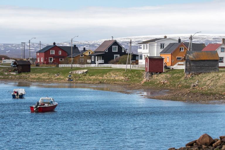 Skallelv village on the Varangerfjord in Northern Norway