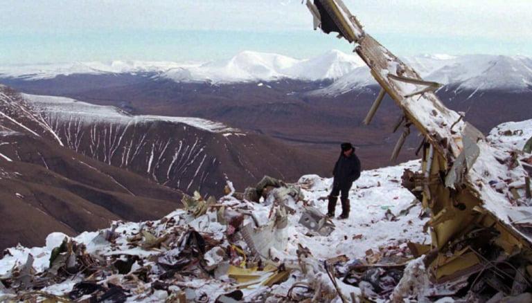 1996 air crash wreckage on Svalbard
