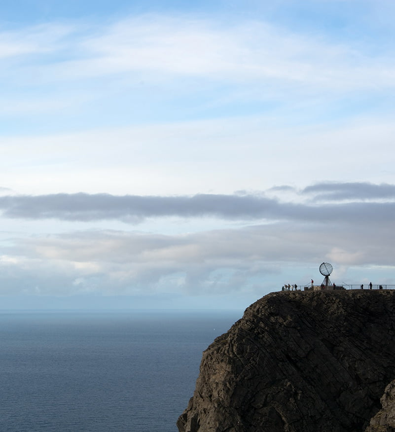 The cliff of Nordkapp in northern Norway