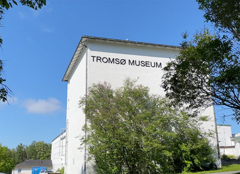The entrance of Tromsø Museum