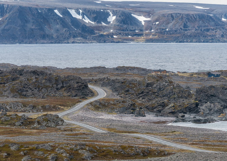 The Varanger tourist route huge the coastline of northern Norway.