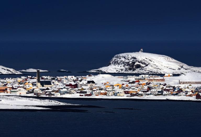 Vardø in blue hour