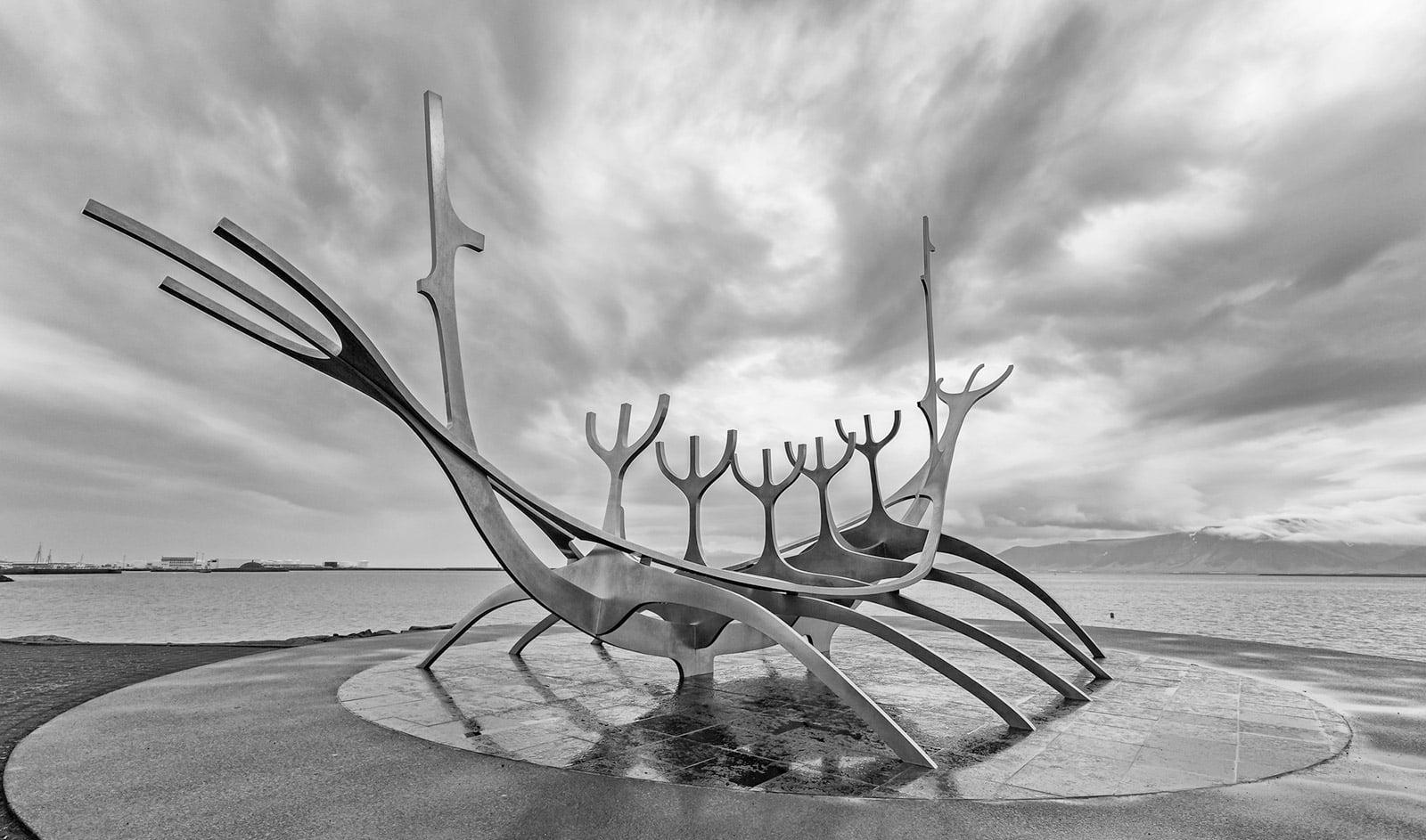 Vikings in Iceland sculpture