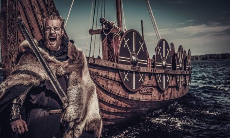 Viking warrior DNA concept image