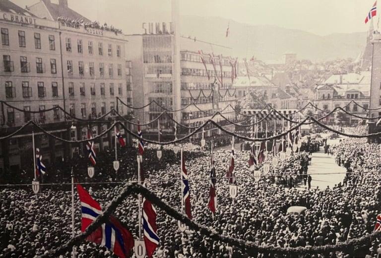 War liberation in Bergen, Norway