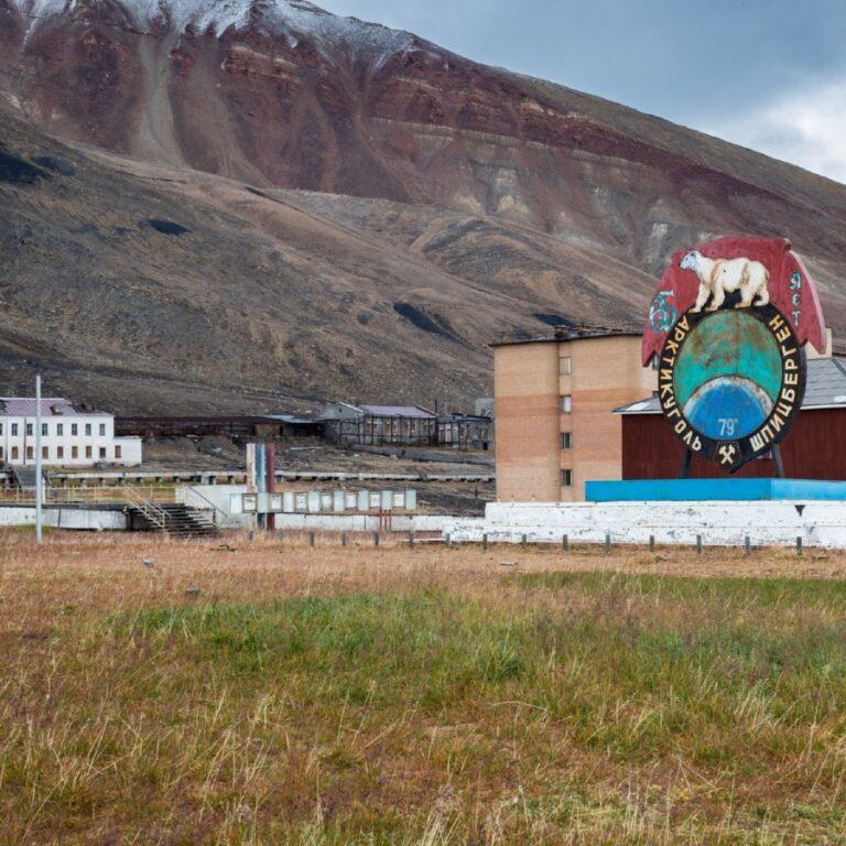 Pyramiden on Svalbard.