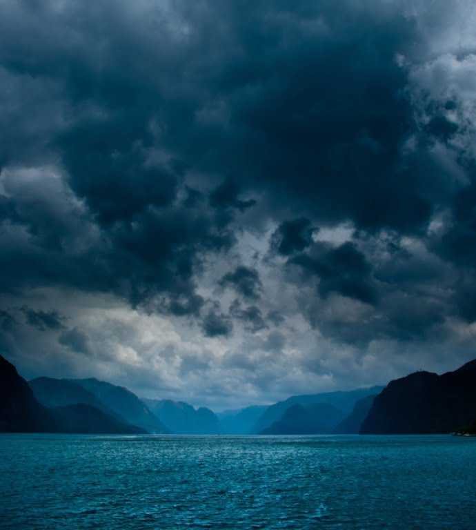 A stormy sky in Norway