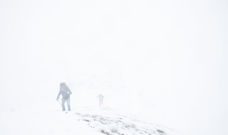 Arctic winter storm in Northern Norway