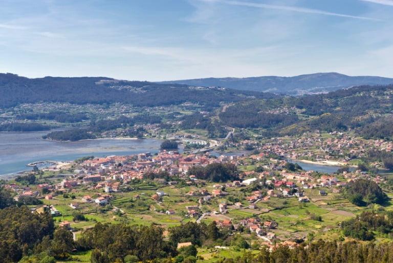 The coastline of Galicia in northwest Spain.